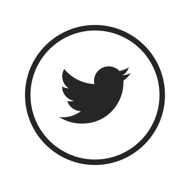 Black And White Twitter Icon in 2019.