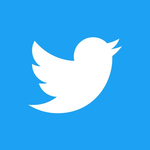 Twitter Logo White On Blue.