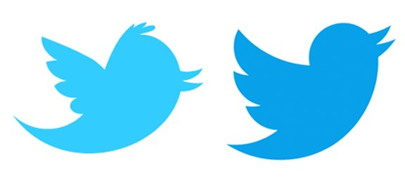New Twitter Logo with Dark Blue Color.