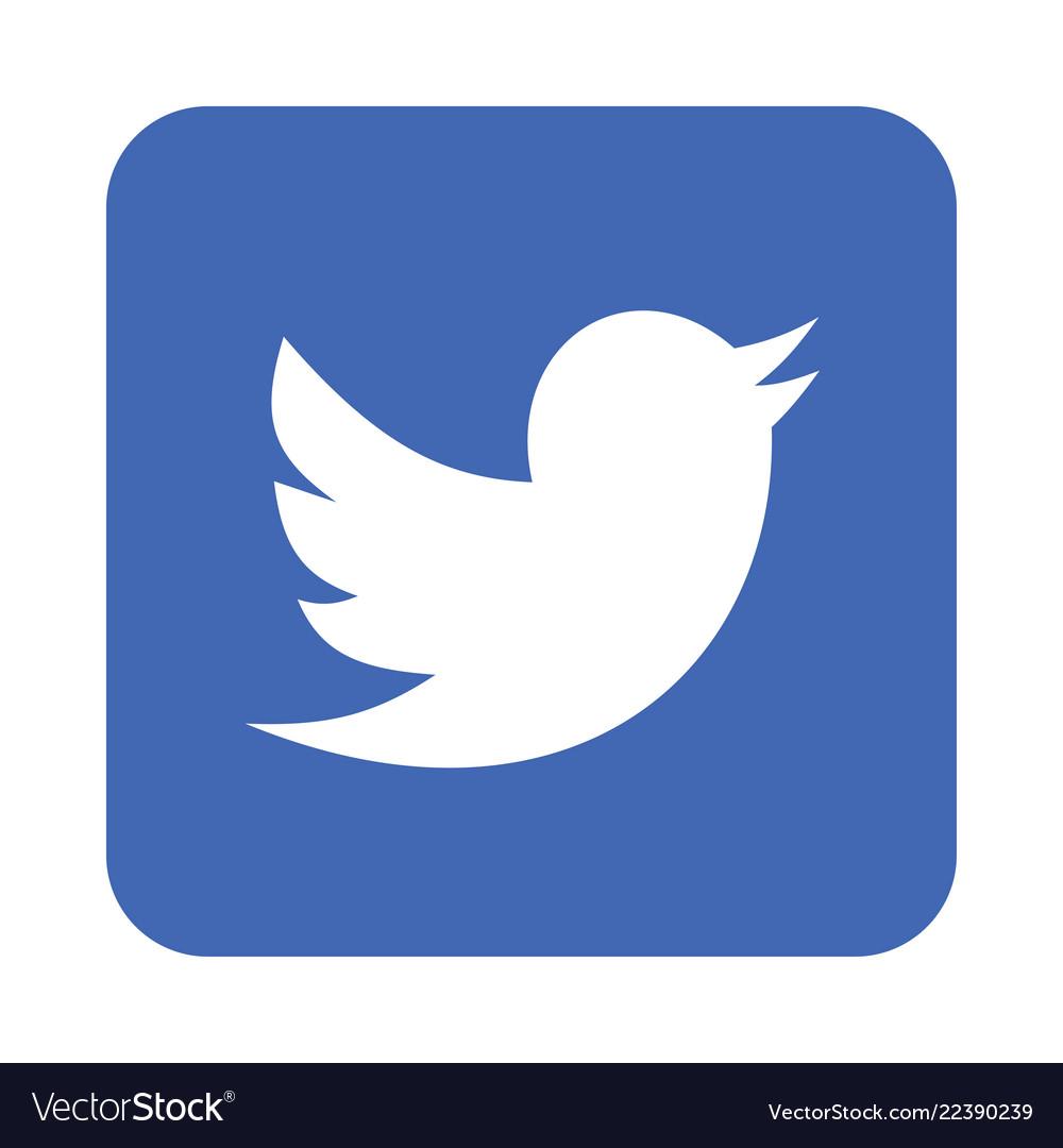 Twitter logo icon.