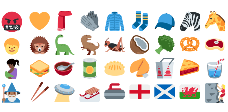 Twitter adds 239 new emoji.