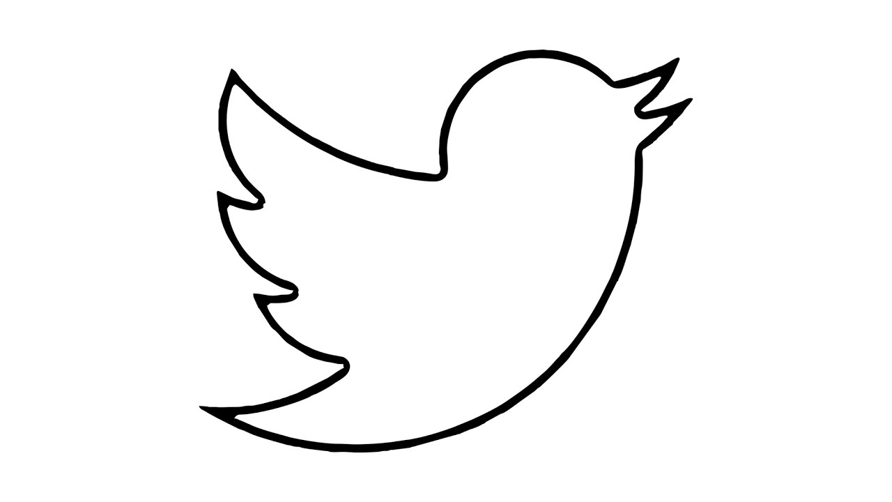 How to Draw the Twitter Logo (symbol, emblem).