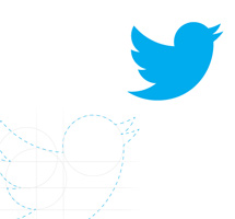Reconstruct the Twitter Icon Using Circle Shapes.