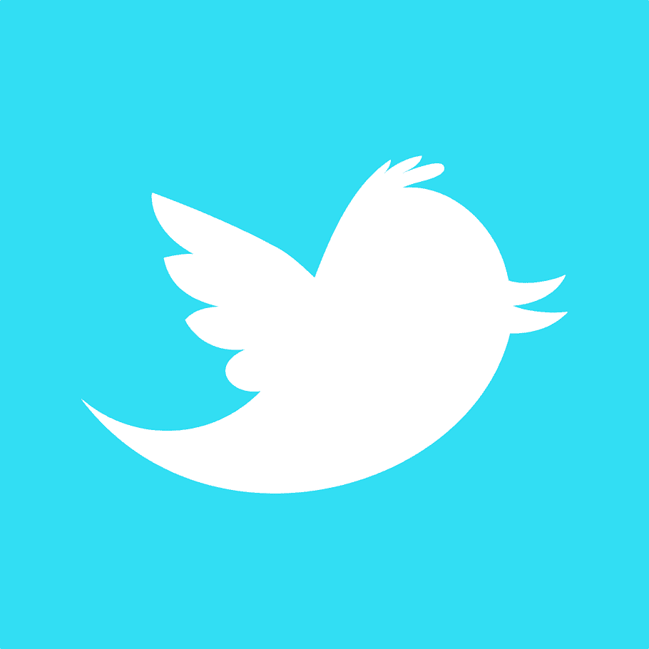 Twitter logo, Square Twitter Icon free png.