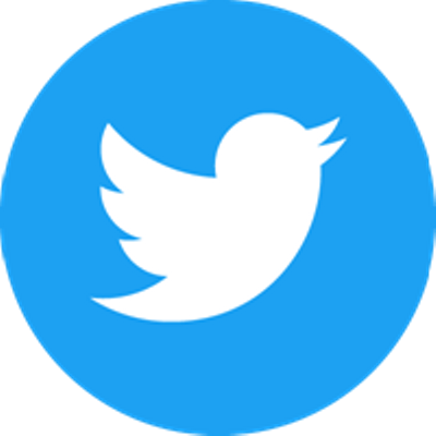 Simple Twitter Logo In Circle transparent PNG.