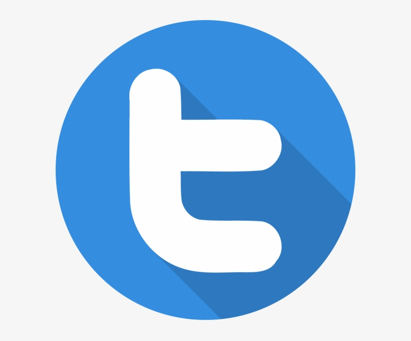 Twitter Flat Shadow Logo Icon.