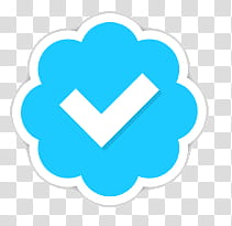 Verified Account Twitter, blue and white check logo.
