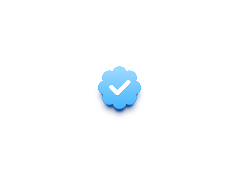 Twitter Verified Badge by Eli Schiff on Dribbble.