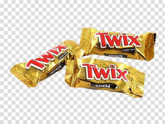 Three Twix chocolate packs, Mini Twix Bars transparent.