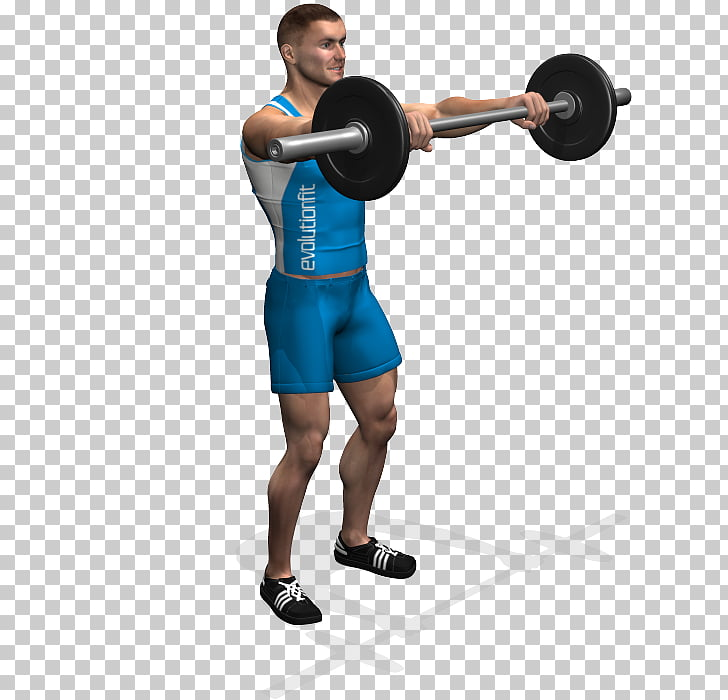 Weight training Barbell Front raise Exercise Dumbbell.