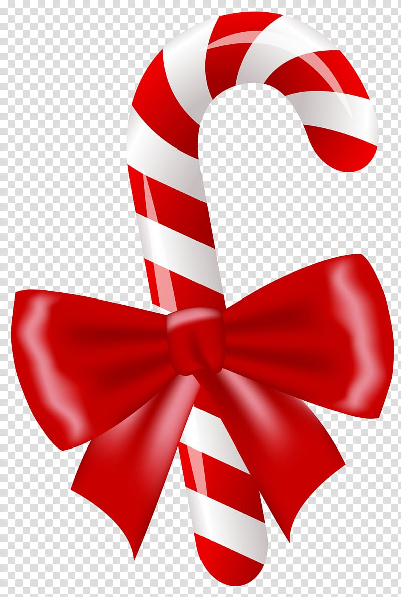 Red and white candy cane illustration, Candy cane Lollipop.