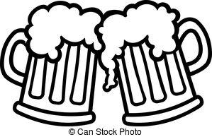 2 Beer Mugs Clipart.
