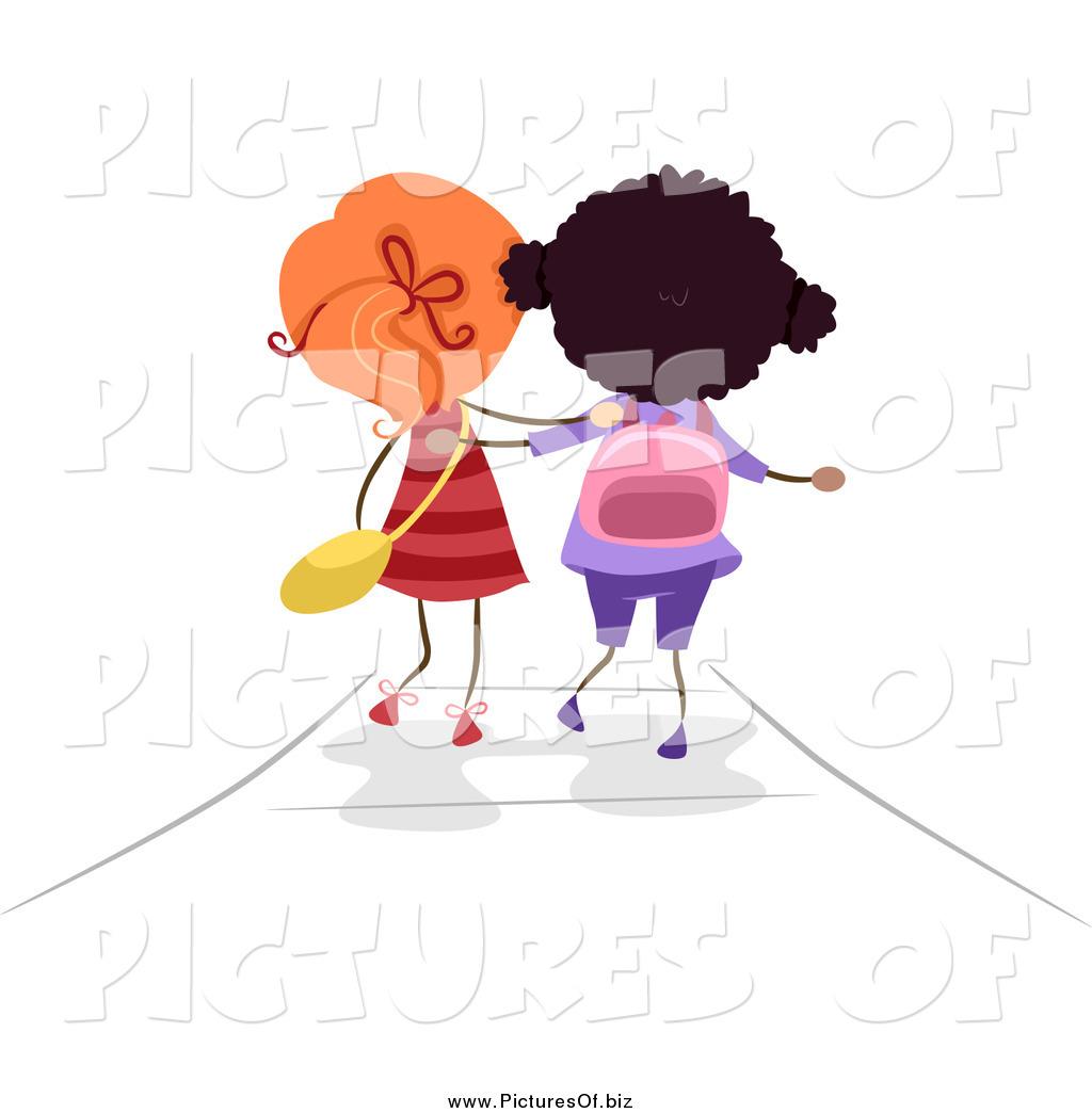 Two Friends Walking Clipart.