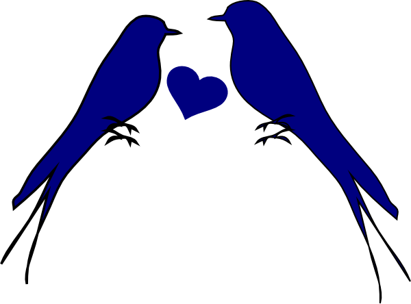 Two Birds With Heart Clip Art at Clker.com.