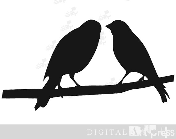Two birds clipart.