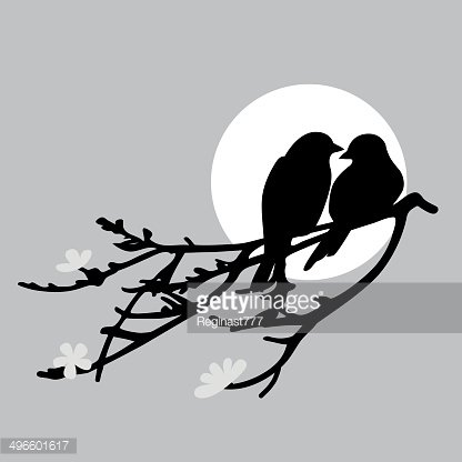 Two birds Clipart Image.