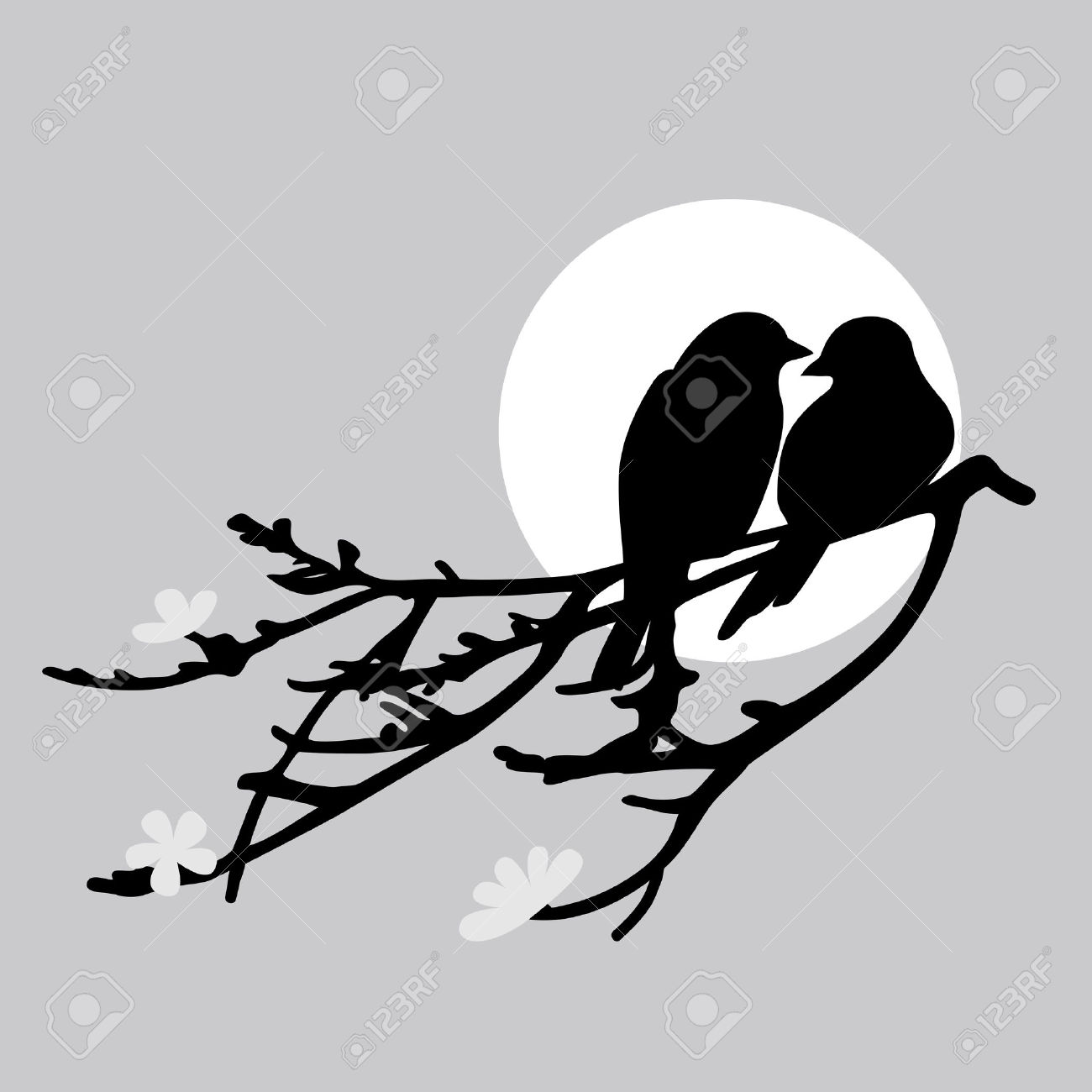 two birds silhouette clipart clipground