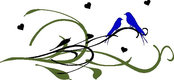 Blue Love Birds On A Branch Clip Art at Clker.com.