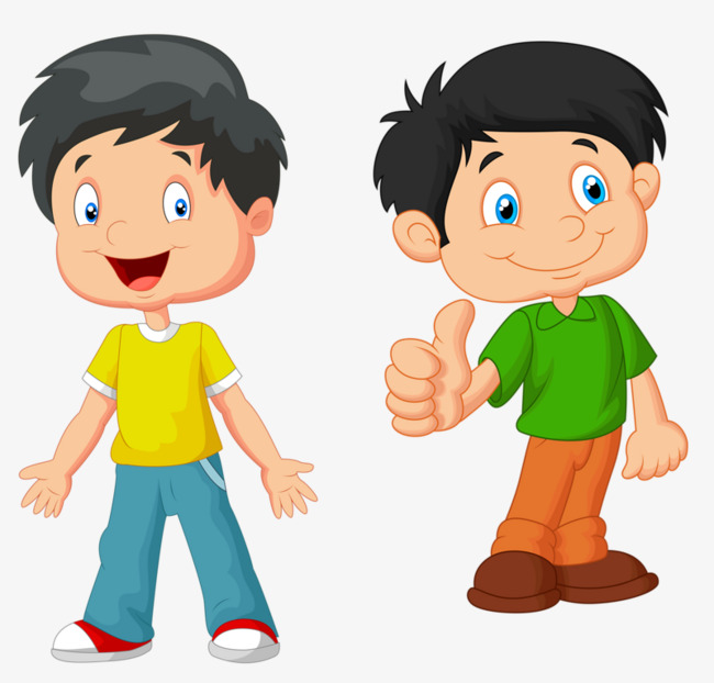 Two boys clipart 6 » Clipart Station.