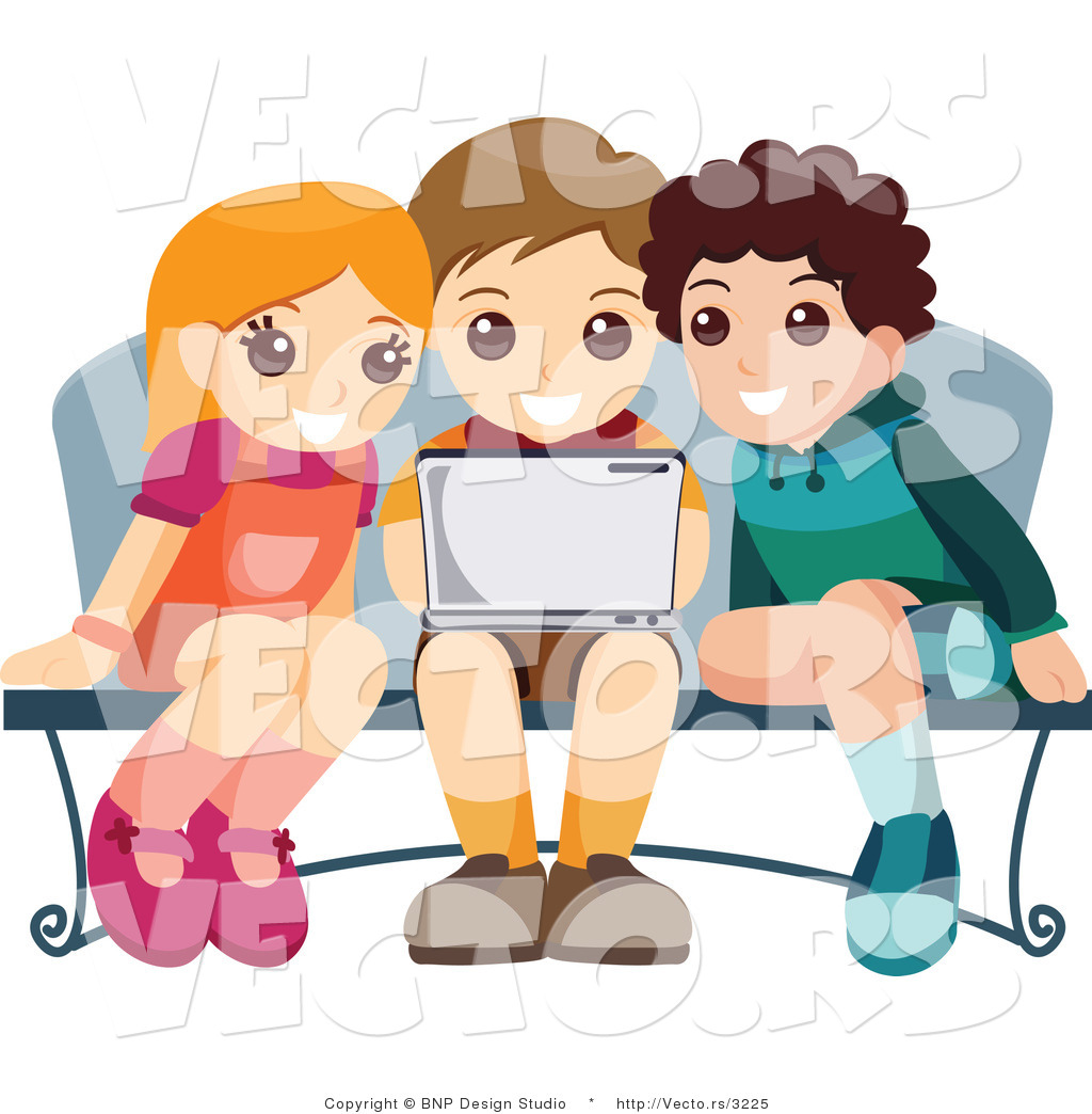 Two Boys And A Girl Clipart.