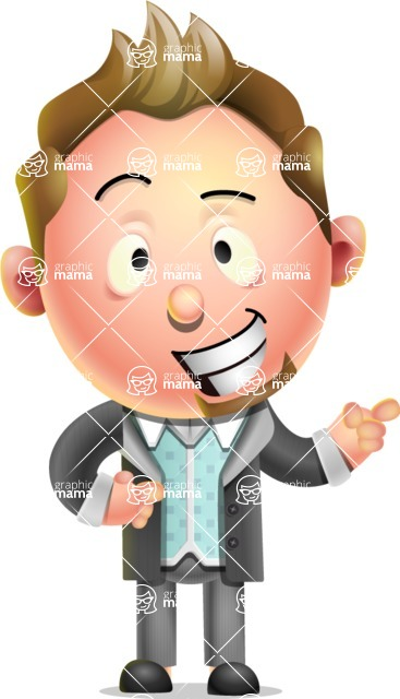 Stylish Man Cartoon 3D Vector Character Design AKA Andrew.
