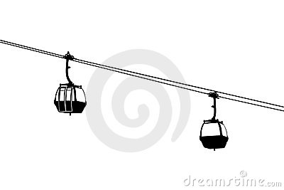 Gondola Cable Car Stock Illustrations.
