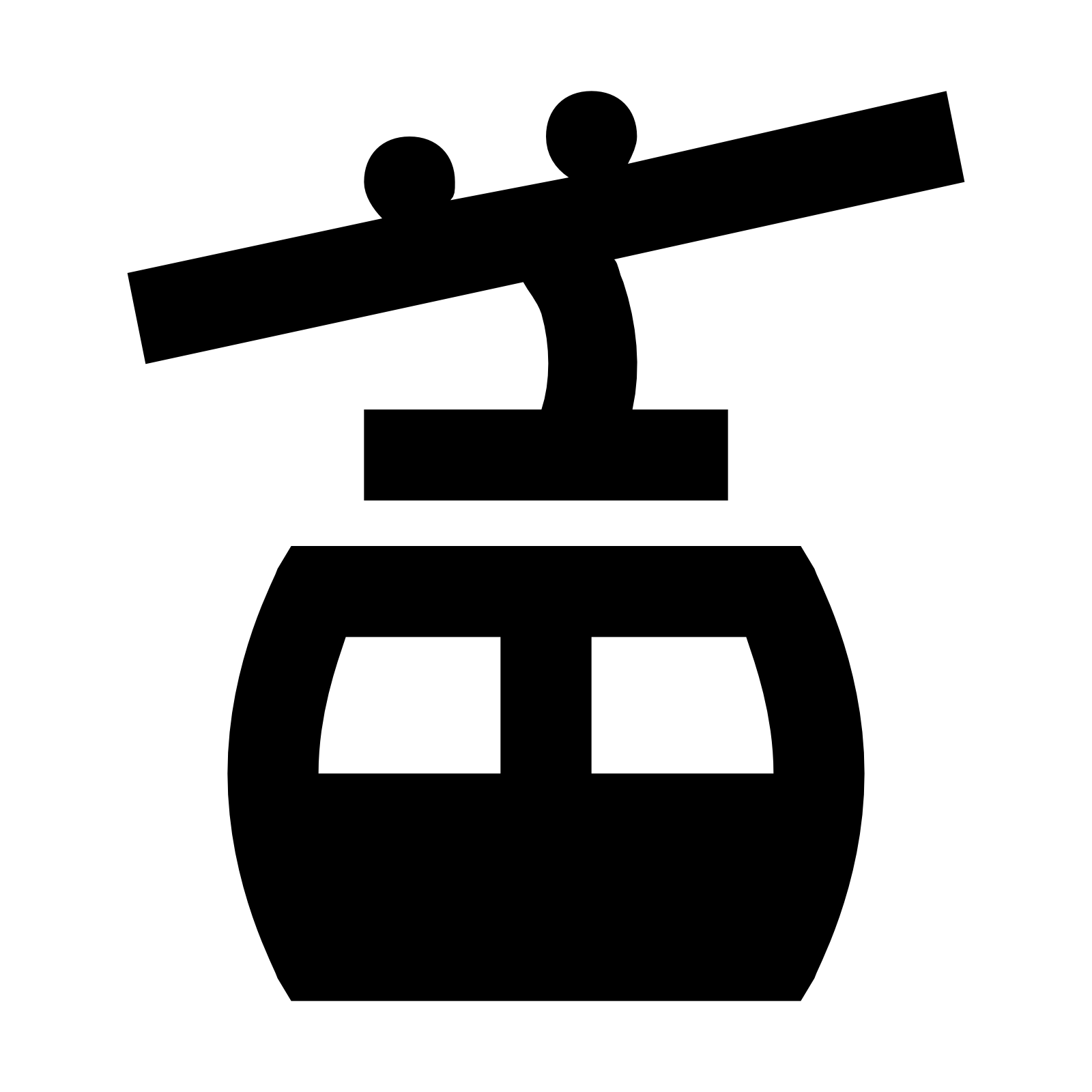 Cable Car Icon.