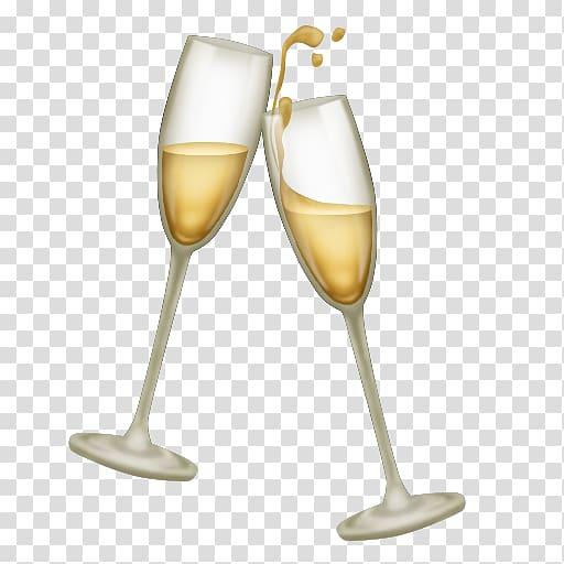Two flute glasses, Champagne glass Emojipedia Unicode.