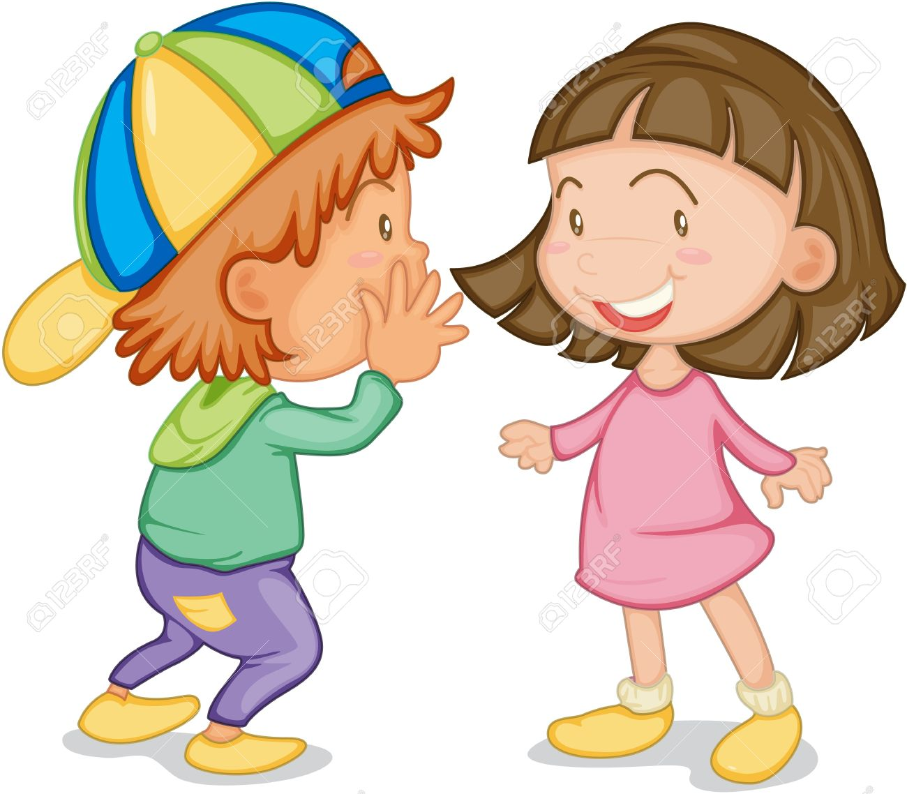 Two children talking clipart 8 » Clipart Station.