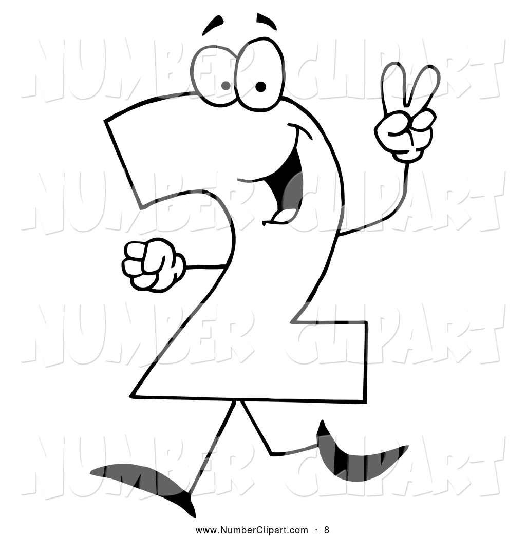 Number 2 Outline Clipart Clipground