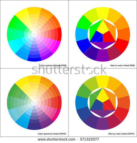 Color Wheel Stock Images, Royalty.