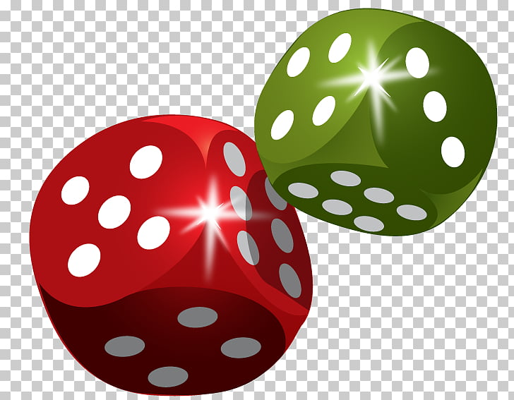Dice Set Gambling Euclidean , two dice, two green and red.