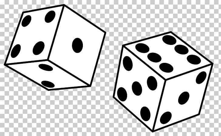 Black & White Yahtzee Dice , Black Games s, two white and.