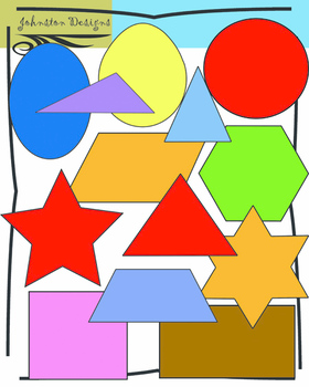 2 Dimensional Shapes Clipart.