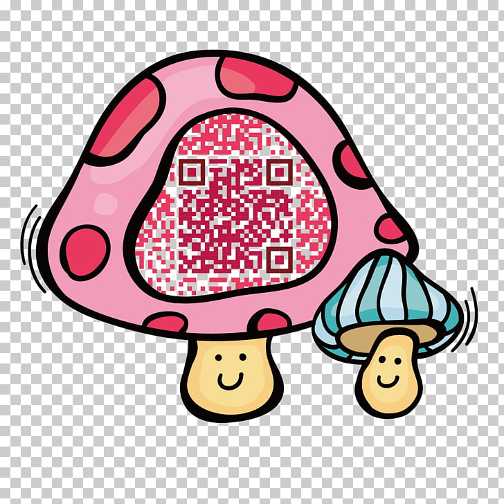 Tibetan Mastiff Information Euclidean QR code, Pink.