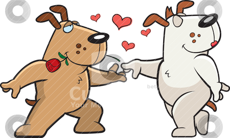 Dog Romance stock vector.
