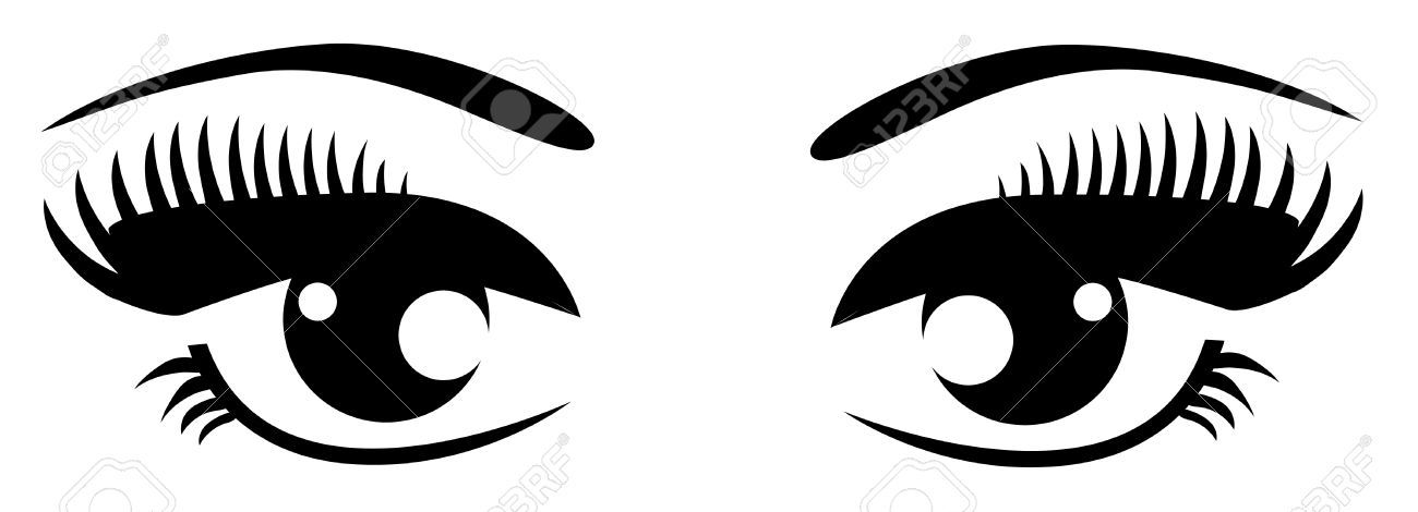 Eyes black and white eyes eye clip art free.