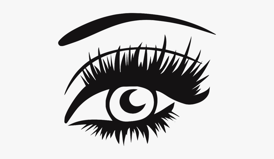 Two eyes with lashes clipart images gallery for Free.