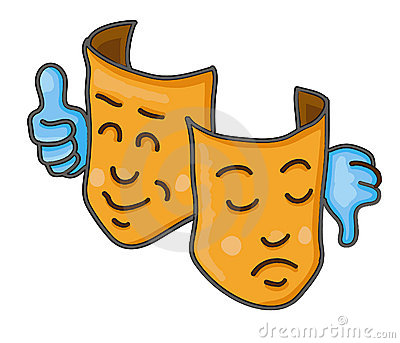 Two Faces Illustration Stock Vector.