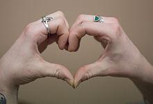 Hand heart.