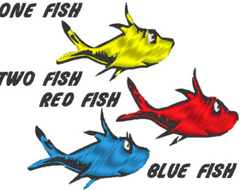 One Fish Two Fish Red Fish Blue Fish Clip Art.