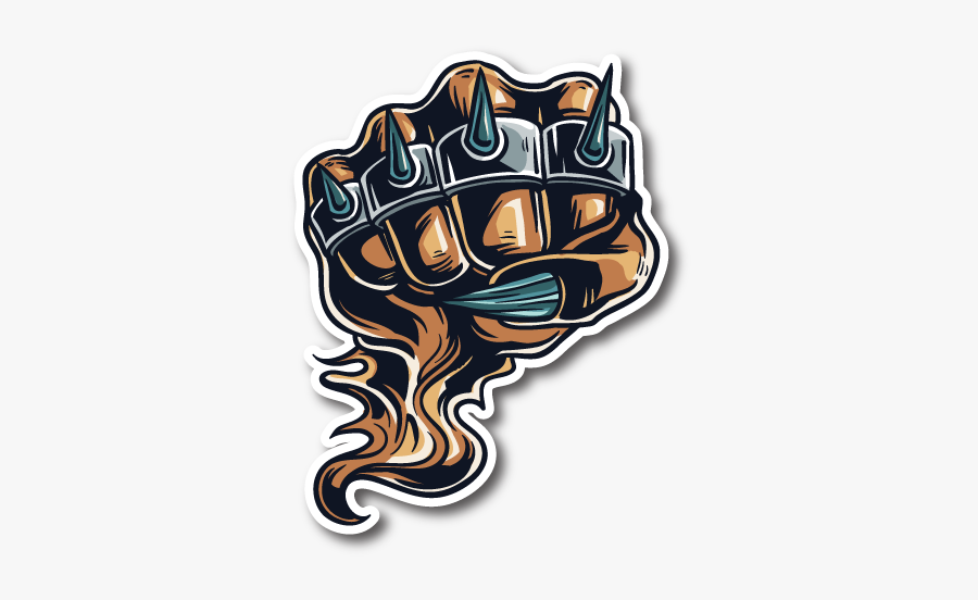 Fist With Brass Knuckles , Free Transparent Clipart.