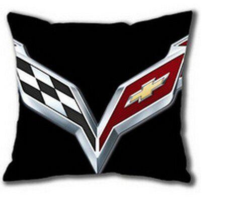 Custom Chevrolet Corvette Logo Zippered Rectangle Pillow.