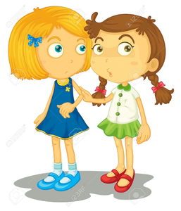 Two Friends Together Clipart.