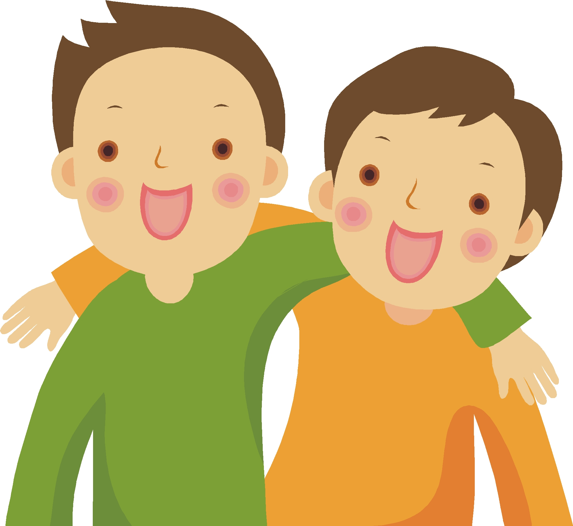 two friends clipart kids - Clipground