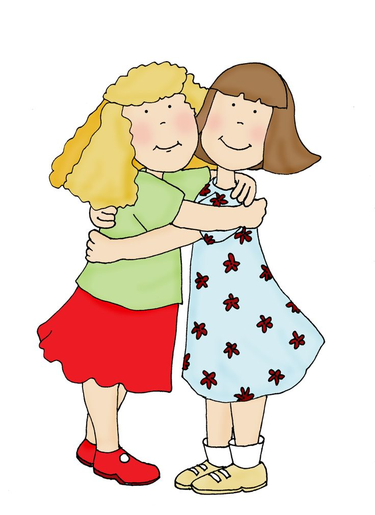 Hugging clipart two friend, Hugging two friend Transparent.