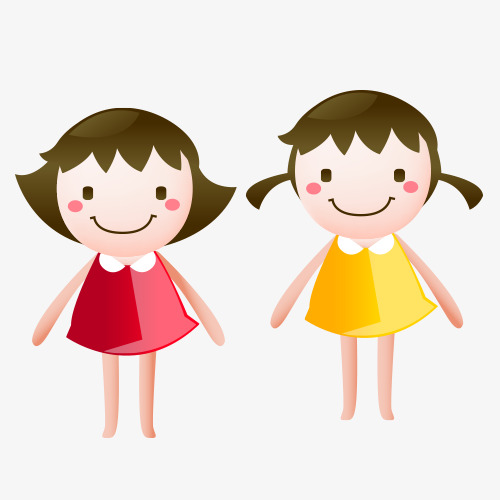 Two girls clipart 8 » Clipart Station.