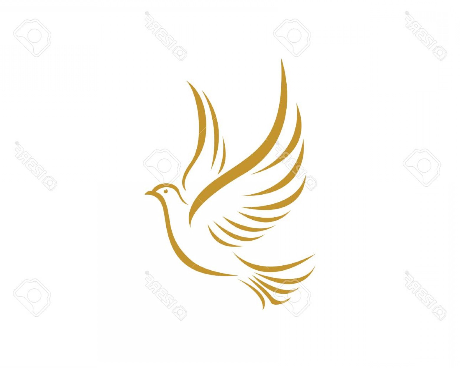 Download High Quality dove clipart gold Transparent PNG.