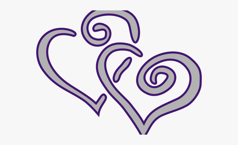 Romance Clipart Two Heart.