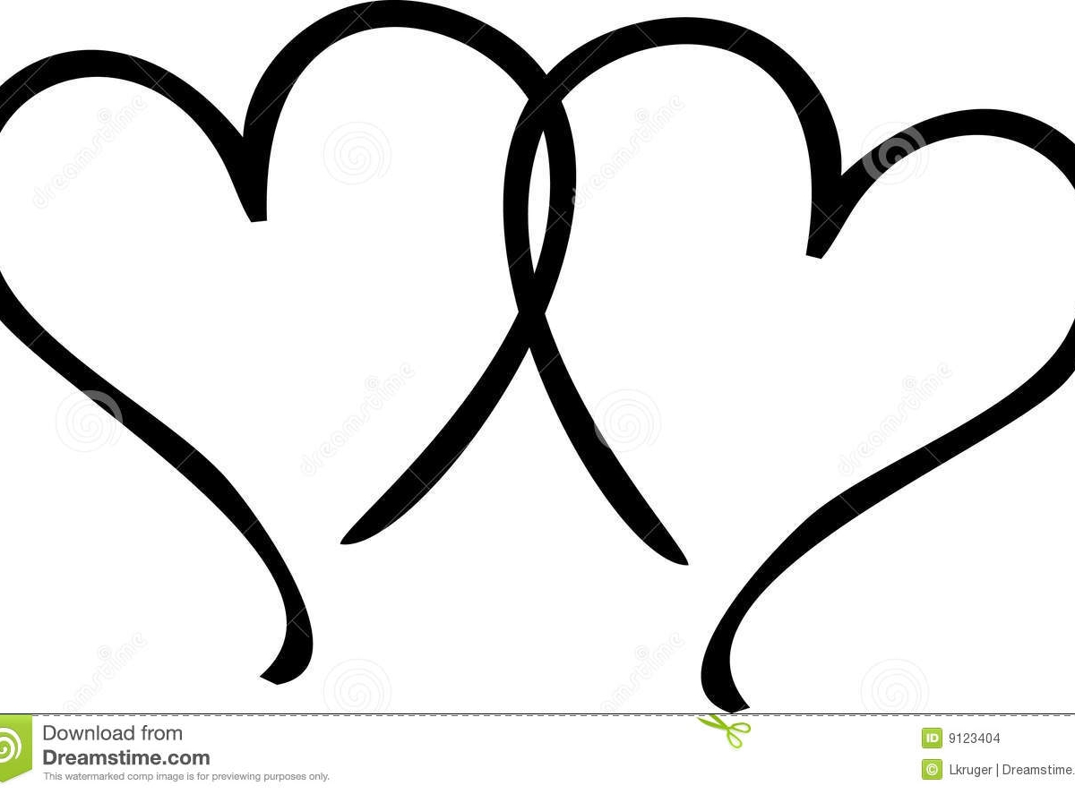 Two Hearts Clipart.